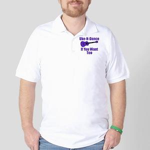 Purple Ukulele Golf Shirt
