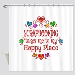 Scrapbooking Happy Place Shower Curtain