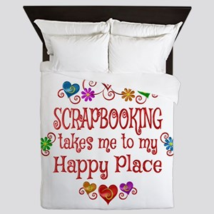 Scrapbooking Happy Place Queen Duvet