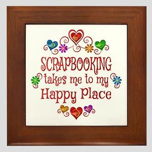 Scrapbooking Happy Place Framed Tile