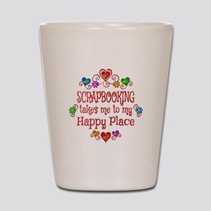 Scrapbooking Happy Place Shot Glass