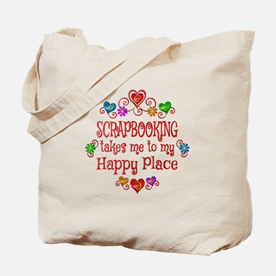 Scrapbooking Happy Place Tote Bag