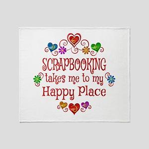 Scrapbooking Happy Place Throw Blanket