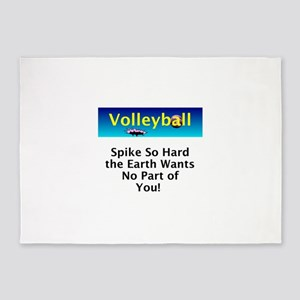 Volleyball Spike 5'x7'Area Rug