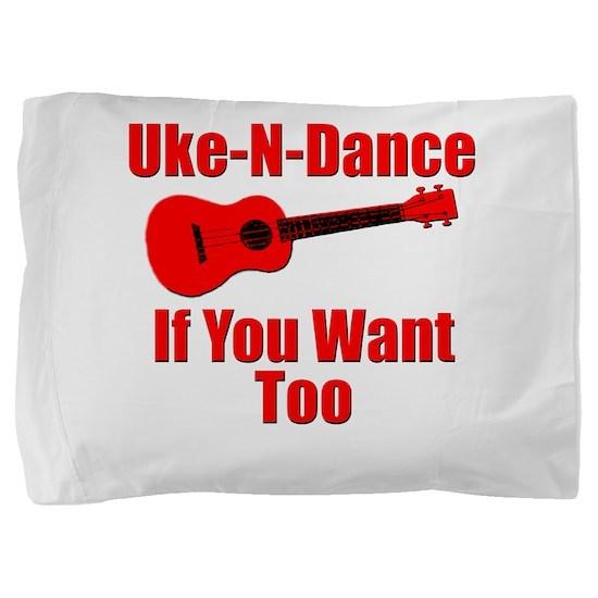 Red Ukulele Pillow Sham