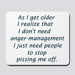 Anger Management Mousepad
