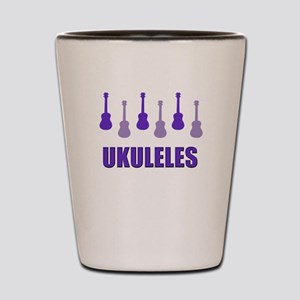 Purple Ukuleles Shot Glass