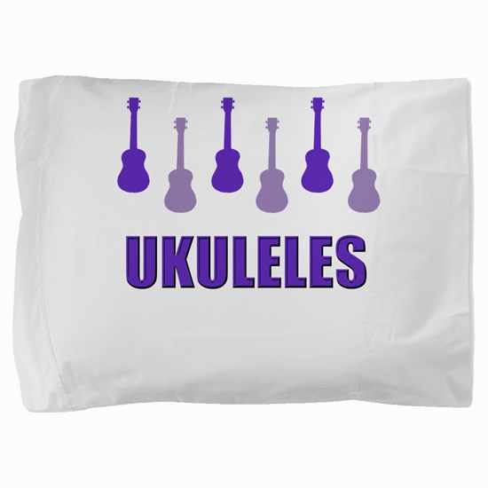 Purple Ukuleles Pillow Sham