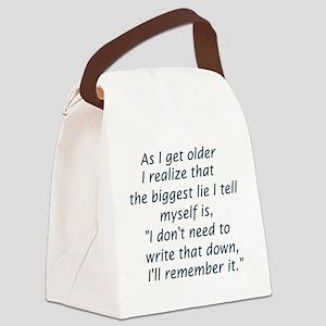Big Lie Canvas Lunch Bag