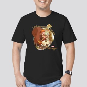 Squirrel Girl Nuts Men's Fitted T-Shirt (dark)