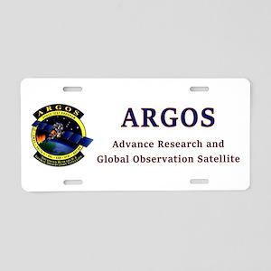 ARGOS Program Aluminum License Plate