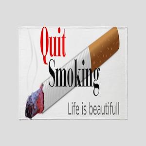 Quit Smoking Throw Blanket