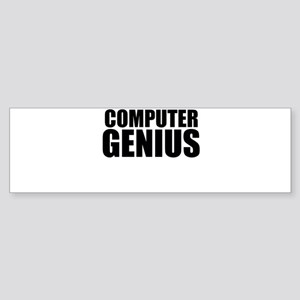 Computer Genius Bumper Sticker