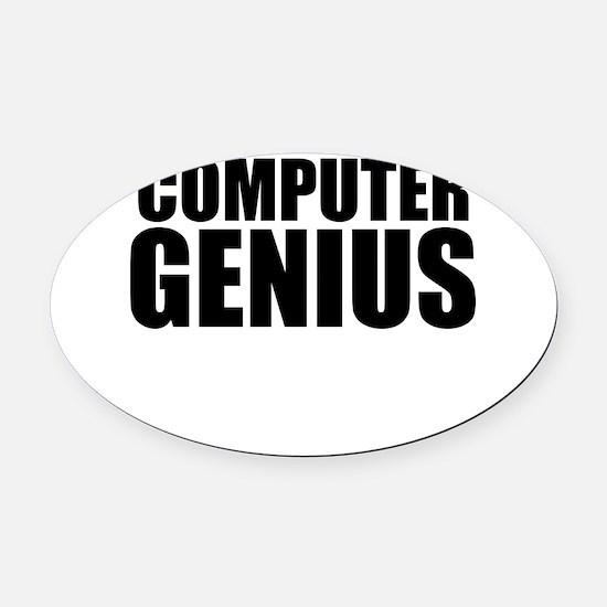 Computer Genius Oval Car Magnet