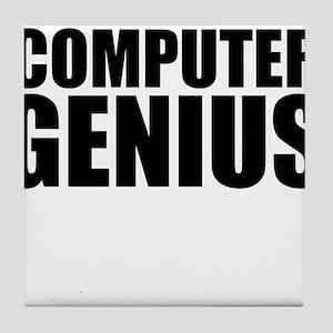 Computer Genius Tile Coaster
