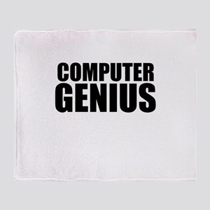 Computer Genius Throw Blanket
