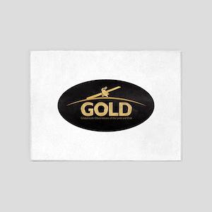 GOLD Logo 5'x7'Area Rug