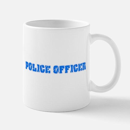 Police Officer Blue Bold Design Mugs