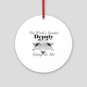 World's Greatest Deputy Ornament (Round)