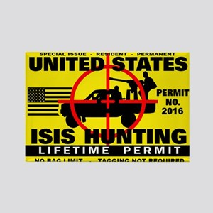 ISIS Hunting Permit Rectangle Magnet