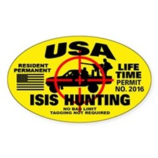 ISIS Hunting Permit Sticker (Oval)