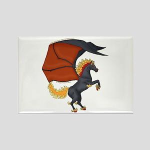 Dark Pegasus Rectangle Magnet