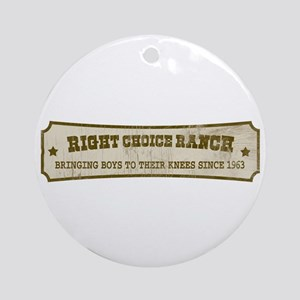 Right Choice Ranch Ornament (Round)