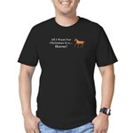 Christmas Horse Men's Fitted T-Shirt (dark)