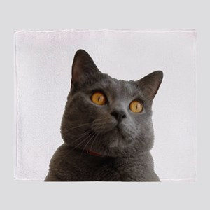 chartreux Throw Blanket