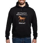 Christmas Horse Hoodie (dark)