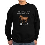 Christmas Horse Sweatshirt (dark)