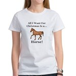 Christmas Horse Women's T-Shirt