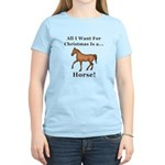 Christmas Horse Women's Light T-Shirt
