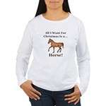 Christmas Horse Women's Long Sleeve T-Shirt