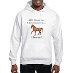 Christmas Horse Hooded Sweatshirt