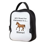 Christmas Horse Neoprene Lunch Bag