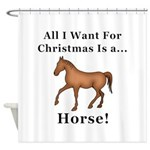 Christmas Horse Shower Curtain