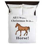 Christmas Horse Queen Duvet