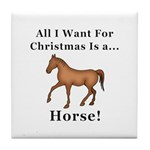 Christmas Horse Tile Coaster