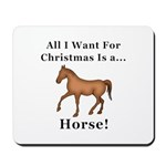 Christmas Horse Mousepad