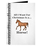Christmas Horse Journal