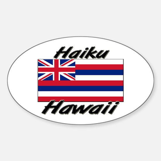 Haiku Hawaii Oval Decal