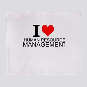 I Love Human Resources Management Throw Blanket