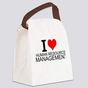 I Love Human Resources Management Canvas Lunch Bag