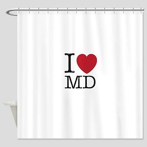 I Love MD Maryland Shower Curtain