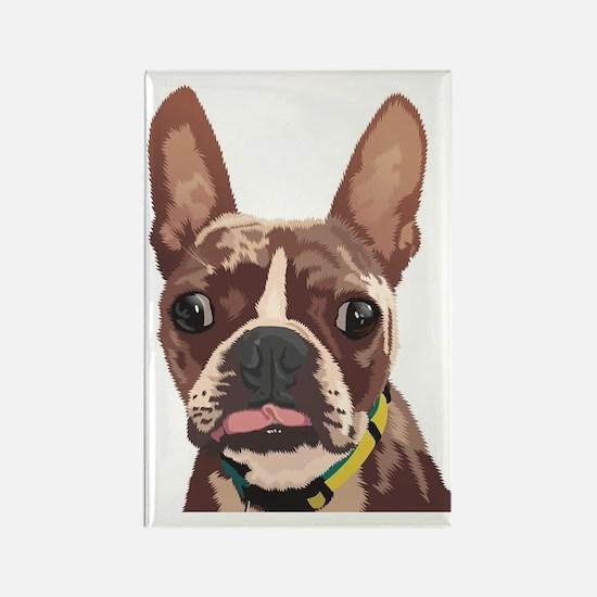 Cute French bulldog dogs bat ears Rectangle Magnet