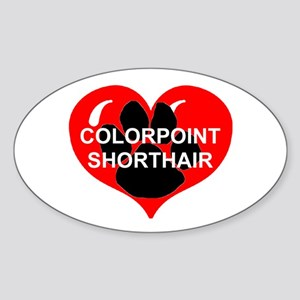 colorpoint shorthair name paw heart Sticker