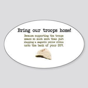 Bring Our Troops Home Oval Sticker