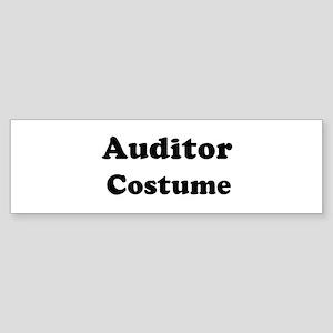 Auditor costume Bumper Sticker