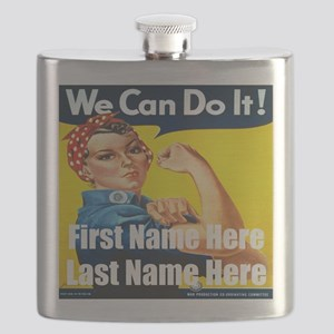 Rosie the Riveter We Can Do It Flask